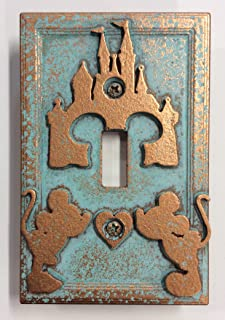 Mickey & Minnie Castle - Light Switch Cover (Aged Copper)