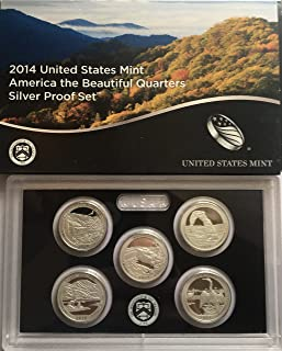 2014 S US SILVER Proof Set National Parks Quarters Cameo Proof, Comes in Packaging from US mint Proof
