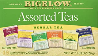 Bigelow Assorted Herb Tea 6 Varieties 18 Bags (Pack of 2)