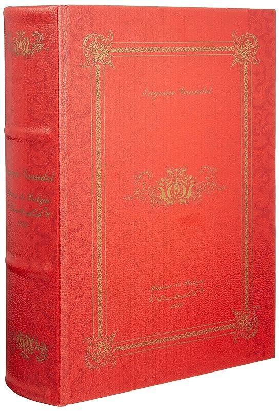 アプライアンス食い違い首尾一貫した秋月貿易 アンティーク調 ブック型 シークレットブック ヒストリーノーベル L [Eugenie Grandet] RED 061085
