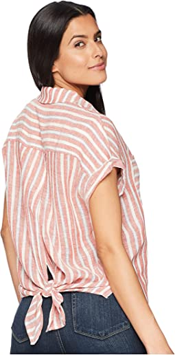 Lucky Brand Tie Back Stripe Top