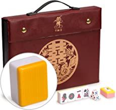 Yellow Mountain Imports Professional Chinese Mahjong Game Set, Double Happiness (Yellow) - 146 Medium Size Tiles: 1.3 x 1 x 0.7 inches (34 x 26 x 19 mm) - for Chinese Style Gameplay Only