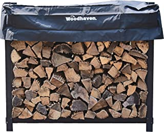 Woodhaven The 4 Foot Firewood Log Rack with Cover