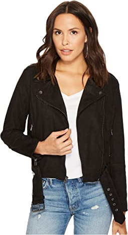 Waller Faux Suede Moto Jacket