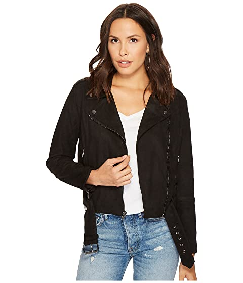 Bb Dakota Waller Faux Suede Moto Jacket At Zappos Com