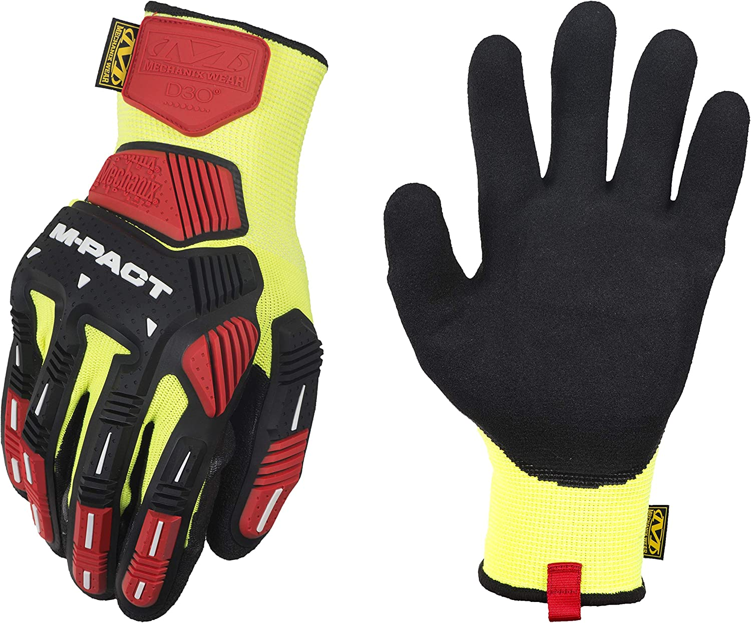 Mechanix Wear: M-Pact Sale special price Knit CR3A3 Max 66% OFF Work Yellow Medium Gloves Bla