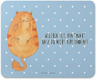 /& Mrs Auto Sonnenschutz Katze Mittelfinger mit Spruch Panda Familie Kinder Farbe Blau Pastell Mr