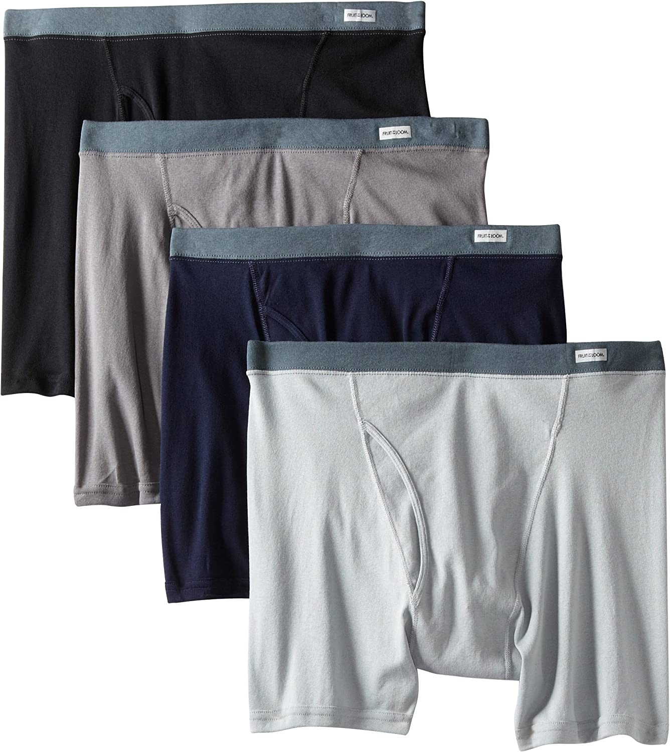 Fruit of the Loom Men's Big Covered Waistband Boxer Brief(Pack of 4)
