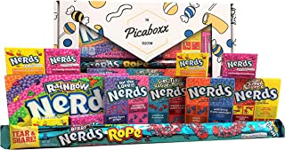 Picaboxx Wonka Nerds Caja de regalo American Candy Selection ★ 12 productos Value Pack ★ American Candy Hamper ★ Caja de regalo dulce con escaparate