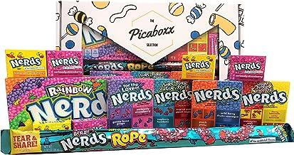 Picaboxx Wonka Nerds Caja de regalo American Candy Selection ★ 12 productos Value Pack ★ American Candy Hamper ★ Caja de regalo dulce con escaparate