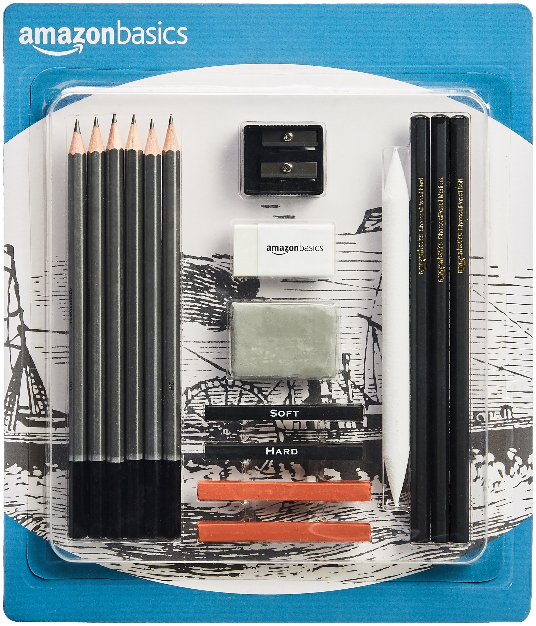AmazonBasics Sketch Drawing Pencil Set