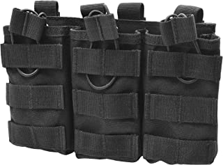 LETUZI Open-Top Mag Pouch, Tactical Magazine Pouch Mag Holder with Bungee Straps for AR15 AK47 M4 M16 Type -Triple/Double …