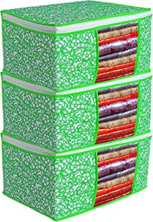 Porchex Presents Non Woven Saree Cover Storage Bags for Clothes with primum Quality Combo Offer Saree Organizer for Wardro...