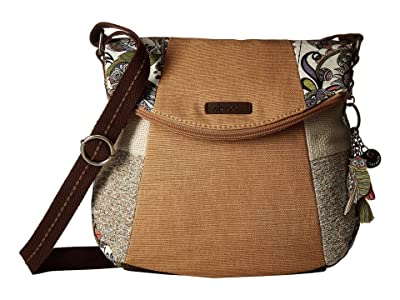 Sakroots Artist Circle Foldover Crossbody (Pastel Spirit Desert) Cross Body Handbags