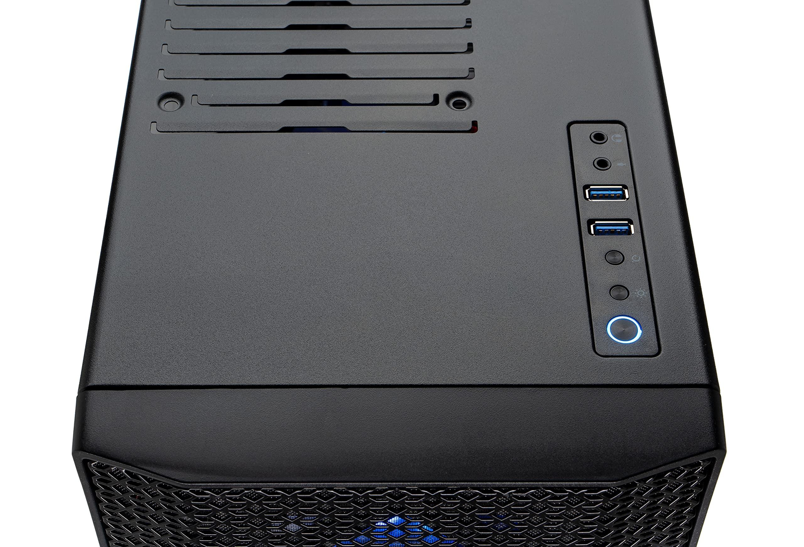 SkyTech Blaze 3.0 Gaming PC Desktop – AMD Ryzen 5 3600 3.6GHz, RTX 3060 Ti 8G GDDR6, 1TB NVMe, 16G DDR4 3000, 600W Gold PSU, AC Wi-Fi, Windows 10 Home 64-bit, Black