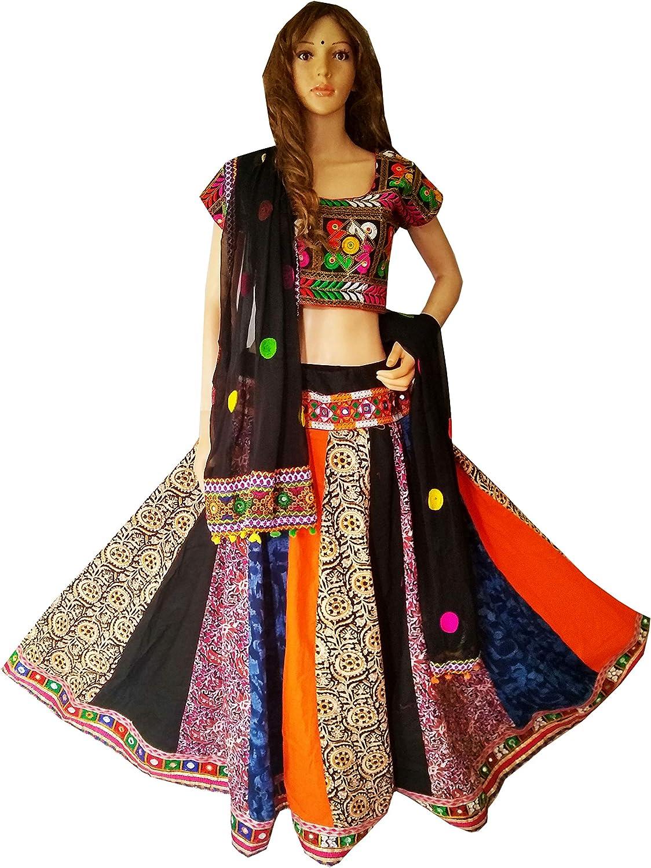 Nanda Women Cotton Indian Traditional Wear Designer Multicolor Printed Chaniya Choli Multicolor Free size