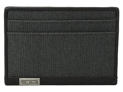 Tumi Alpha Slim Card Case (Anthracite/Black) Credit card Wallet