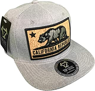 Top Level California Republic Hat w/Cork Inlay - Cali Flag Star Bear 100%