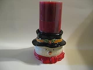 Russ Berrie Snowman Pillar Candle Holder