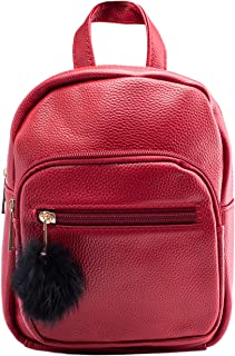 Mini Backpack - Leather - Red