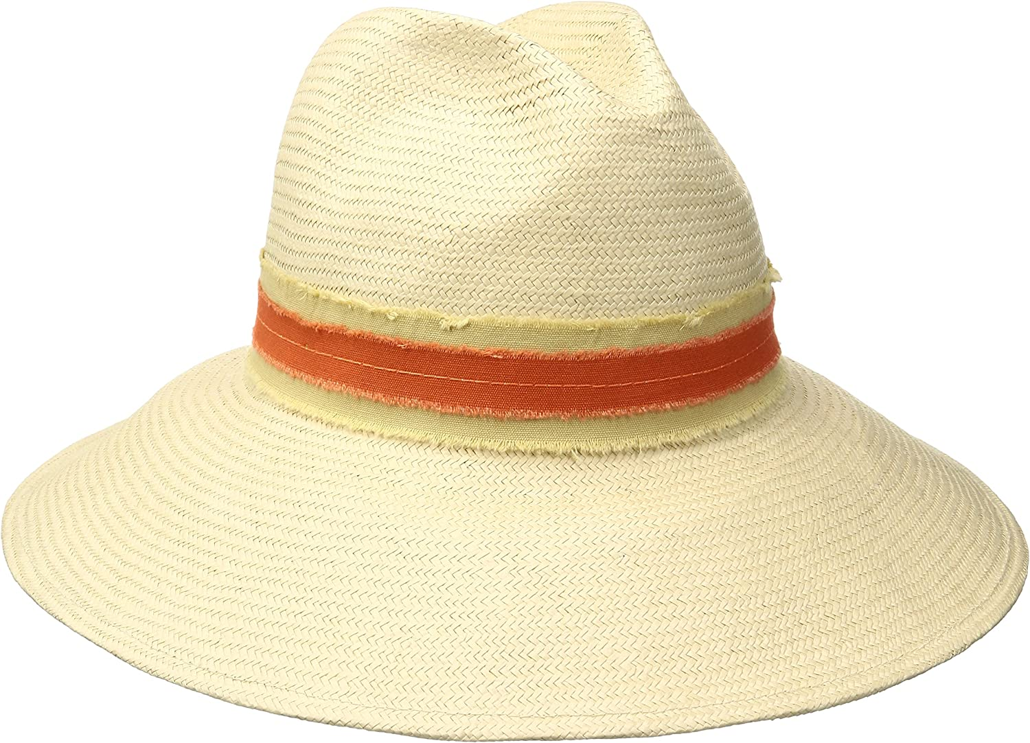 'ale by alessandra Womens Grosvenor Fine Panama Hat with TwoTone Canvas Trim Hat