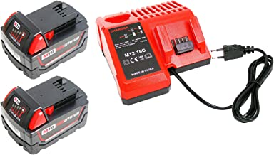 Power-ing M12 2.5Ah 10.8V Bater/ía para Milwaukee 12V Bater/ía de litio de repuesto Xc 48-11-2440 48-11-2401 48-11-2402 48-11-2410 48-11-2420 Cordlees Tools