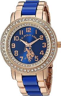 U.S. Polo Assn. Women's Stainless Steel Quartz Watch with Ceramic Strap, Blue, 20 (Model: USC40228