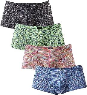 iKingsky Men's Stretch Boxer Briefs Underwear Sexy Low Rise Men Pouch Boxer Shorts