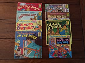 9 Book Lot Berenstain Bears (Eager Beaver, The Substitute Teacher, The Trouble with Friends, Too Much Junk Food, Visit the Dentist, The Ghost of the Forest, The Bully, The Green-Eyed Monster, The Prize Pumpkin)