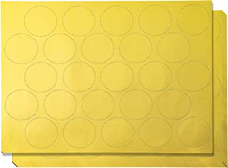 Award Stickers - 250-Count Gold Certificate Seals, Blank Self-Adhesive Star Stickers for Award Certificates, Invitations, Corporate Seals, 10 Sheets, 1.7 inches in Diameter