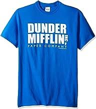 T-Line Men's The Office Tv Series Dunder Mifflin Logo Graphic T-Shirt