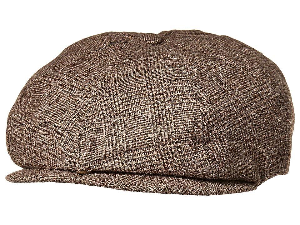 Men's Steampunk Clothing, Costumes, Fashion Brixton Brood Adjustable Snap Cap BrownTan Caps $39.00 AT vintagedancer.com