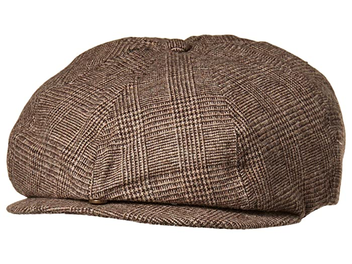 1920s Mens Hats & Caps | Gatsby, Peaky Blinders, Gangster Brixton Brood Adjustable Snap Cap BrownTan Caps $39.00 AT vintagedancer.com