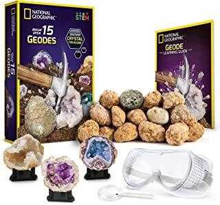 NATIONAL GEOGRAPHIC – Break Open 15 Premium Geodes – Includes Goggles, Detailed..