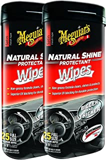 Meguiar's Natural Shine Wipes Auto Surface Protector 25 pk