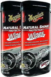 Meguiar's Natural Shine Wipes Auto Surface Protector 25 pk