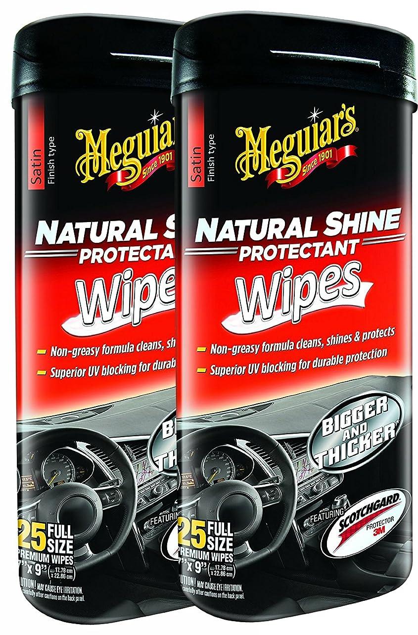 共役晴れアパートMeguiar 's g4100?Natural Shine Protectantワイプ?–?2パック