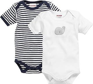 Schnizler Unisex Baby Body Kurzarm, 2er Pack Wal