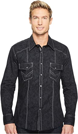 Rock and Roll Cowboy - Long Sleeve Snap B2S2066