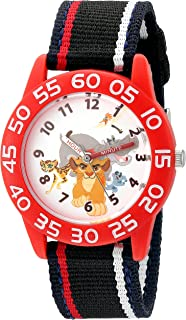 Disney Boy's 'Lion Guard' Quartz Plastic and Nylon Watch, Color:Black (Model: W002645)