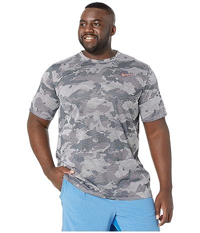 Nike Big Tall Dry Legend T-Shirt Camo All Over Print (White/Black) Men