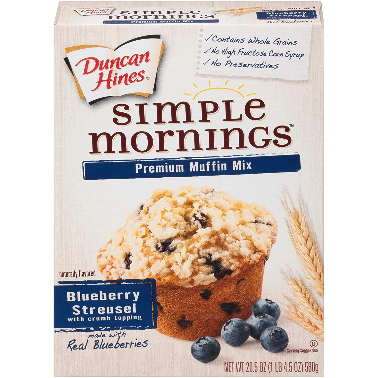 Duncan Hines Simple Mornings Cheap mail order specialty store Award Muffin Streusel Mix - Blueberry 2