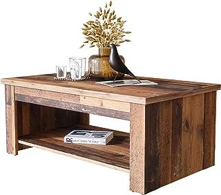 Newfurn Couchtisch Betonoptik Dunkelgrau Old Wood Wohnzimmertisch Vintage Industrial - 110x45,7x65 cm (BxHxT) - Landhausstil Sofatisch Tisch - [Kane.Eight] Wohnzimmer