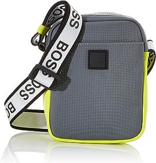 BOSS Hommes Hyper P NS zip Sac reporter à motif texturé, avec bandoulière à logos