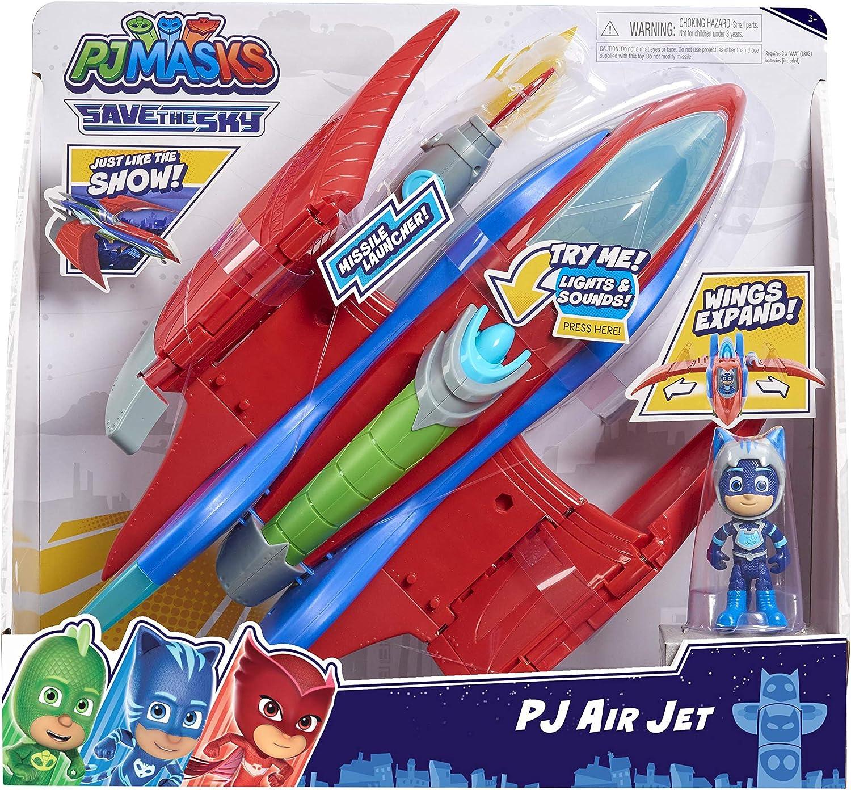 PJ Masks - Jet de rescate con 1 figura de 7,5 cm (sonido y ...