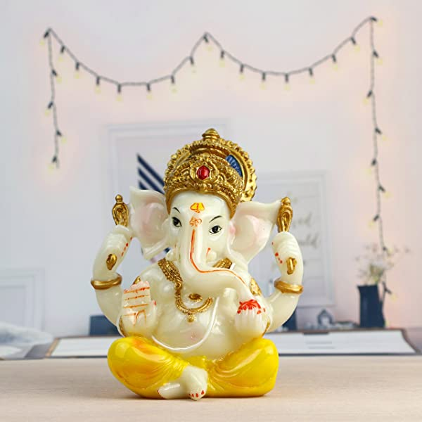 India Ganesh Statue Diwali Decor Hindu Lord Ganesha Idol Indian Meditation Temple Mandir Puja Items