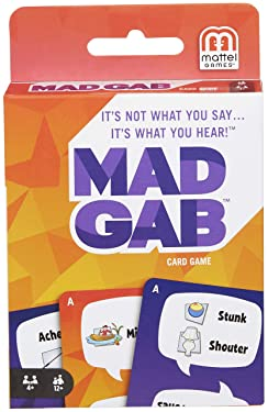 MAD GAB Card Game of Verbal Puzzle Phrases, Gift for Players Ages 12 Years & Older​​​