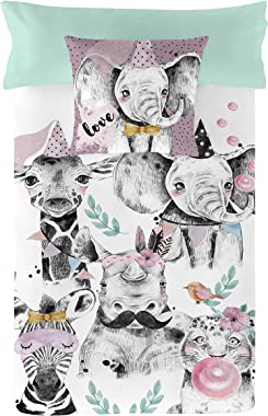 NATURALS Hey Zoo Duvet Cover for 105 cm Bed