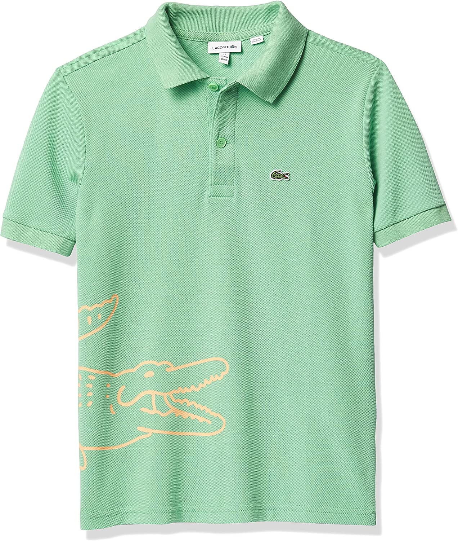 Lacoste Boys' Short Sleeve Big Croc Polo Shirt