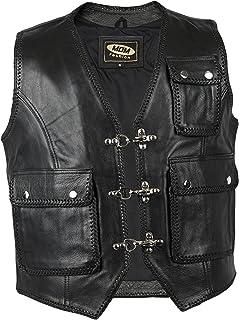 Jacket en cuir sans manche Homme ou Femme S M L XL 2XL 3XL 4XL 5XL 6XL 7XL